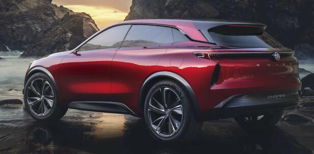 9 MODELLER: Vi vil se flere skisser på mellomstore SUV-er fra GM i nærmeste fremtid, Her er Buick sitt forslag. Skisse: Buick