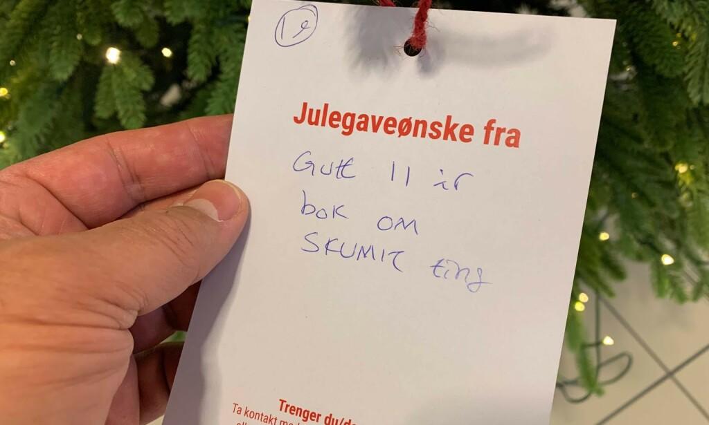 GJØR NOE MED DEG: Det burde vært en lov som sikret at alle 11-åringer som ønsker seg bok om skumle ting til jul, fikk nettopp det. Foto: Bjørn Eirik Loftås
