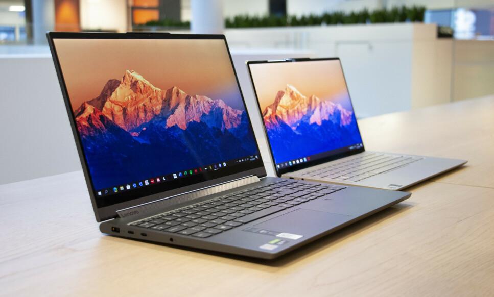 LENOVO YOGA: C940 er oppfølgeren til en av fjorårets beste bærbare PC-er, mens S940 er et helt nytt tilskudd i Yoga-familien. Foto: Martin Kynningsrud Størbu