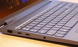 C940: Et litt bedre utvalg av kontakter. I tillegg til USB-C har den også vanlig USB og HDMI. Foto: Martin Kynningsrud Størbu