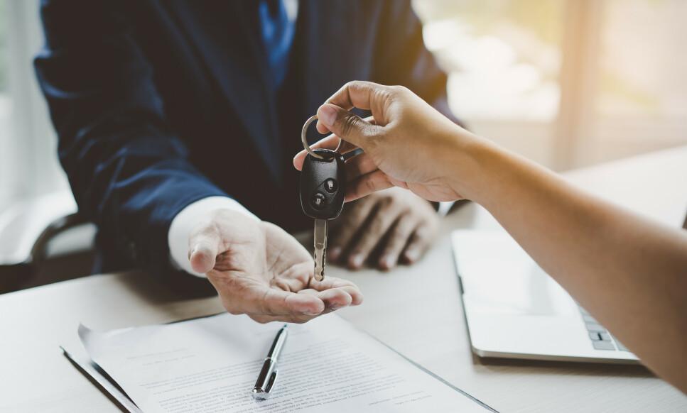 BILLÅN: Tenk deg om to ganger dersom du vurderer å ta opp rent billån til å finansiere bilkjøpet. Foto: Shutterstock/NTB Scanpix.