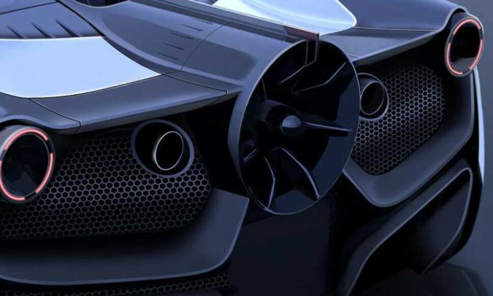 FORMEL 1-TEKNOLOGI: Gordon Murray børster støv av sin suksessfulle vifte som suger bilen til bakken. Formel 1-bilen ble bare brukt i ett løp - som den vant. Nå skal vi snart se den på en gateregistrert bil. Illustrasjon Gordon Murray Design