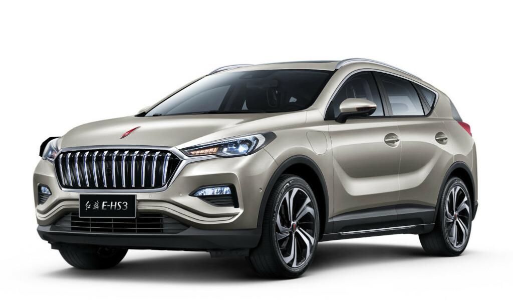 EL MED STIL: Hongqi er et merke med litt mer premium-preg enn mange andre kinesiske merker. Den mellomstore SUV-en E-hs3 burde likevel ikke koste veldig mye over 300.000 kroner her til lands, vil vi tro. Foto: FAW-Hongqi