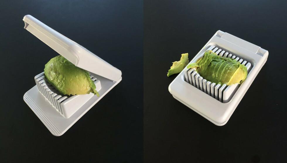 Du kan dele en avocado opp i biter. Foto: Linn Merete Rognø.