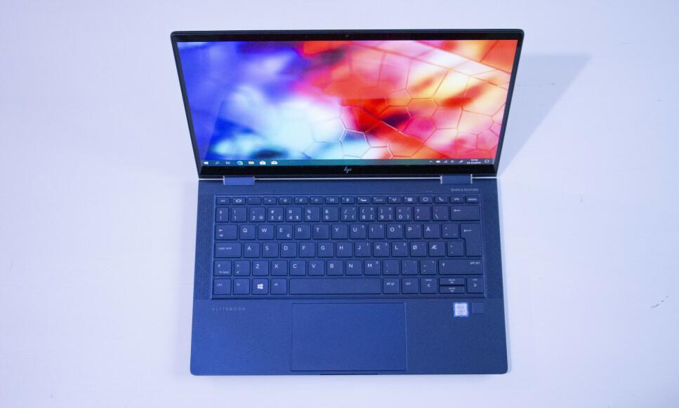 HP DRAGONFLY: Dette er ikke en vanlig jobb-PC - også vanlige forbrukere tror vi kommer til å la seg friste av nye HP Elite Dragonfly. Foto: Martin Kynningsrud Størbu