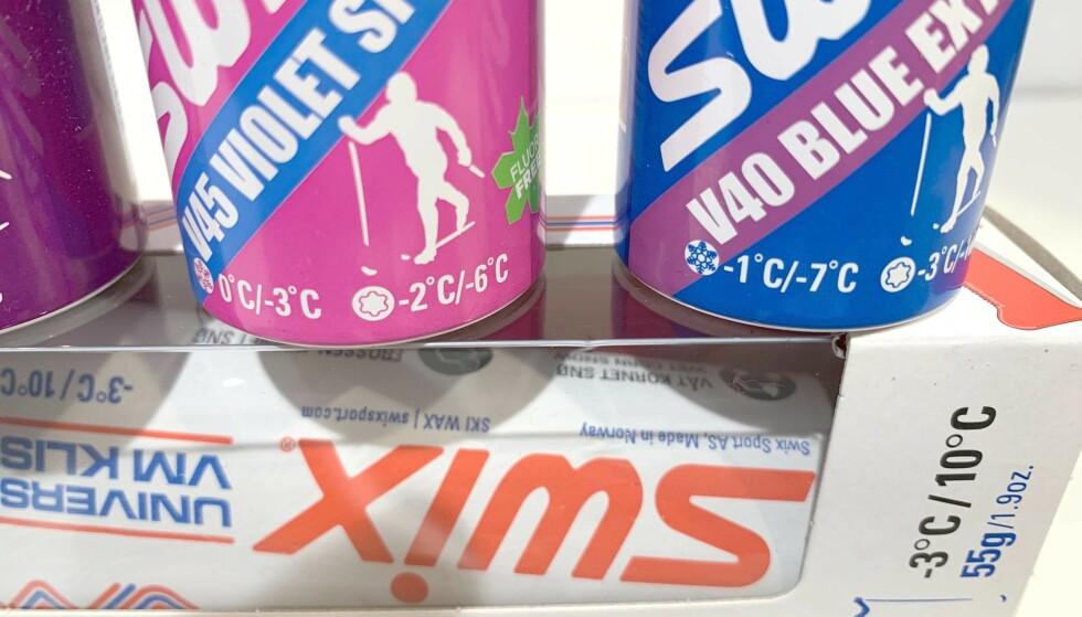 HVILKEN TEMPERATUR: V50 og V45 er to anbefalte vokstyper å ha i arsenalet sitt, men hva betyr egentlig temperaturen på pakkene? Foto: Eilin Lindvoll.