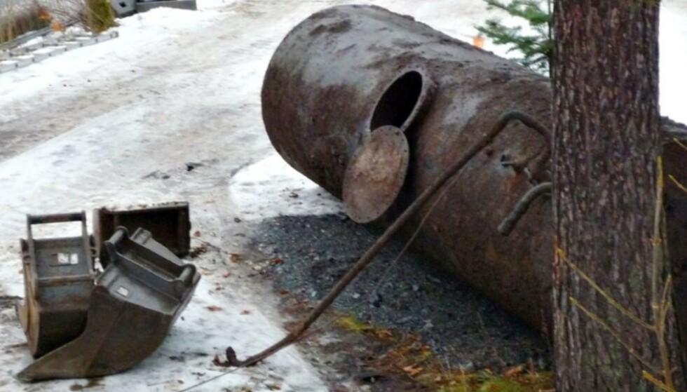GRAVE OPP OLJETANKEN: Miljødirektoratet vil at hovedregelen skal være at alle må grave opp den gamle oljetanken. Foto: Merete Beyer/Oljefri.no
