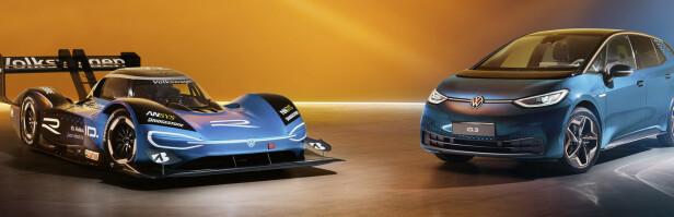 ELEKTRISK RACING: VW har allerede tatt i bruk R-logoen, som til nå mest er kjent fra Golf R, i elektrisk Racing.