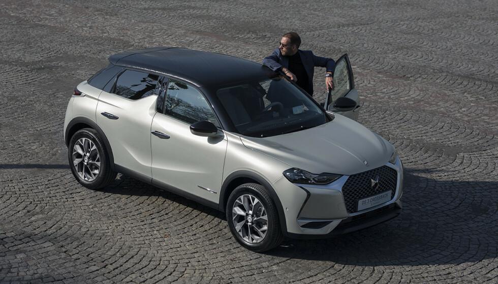 LITEN SUV: DS er et nytt merke i Norge, men denne elektriske SUV-en kan bli et gjennombrudd. Foto: Rune Korsvoll