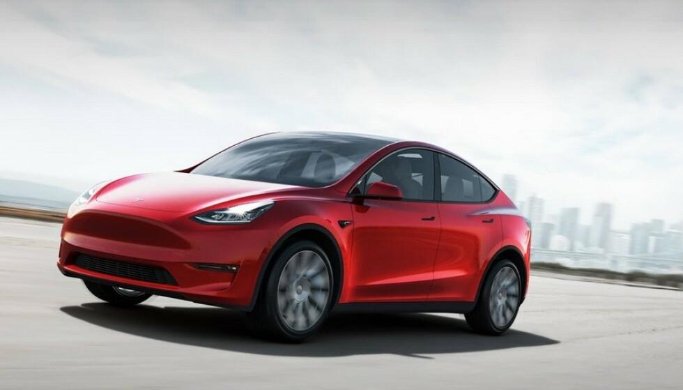KOMPAKT SUV: Tesla Model Y kommer til Norge til høsten ... dersom elt går etter planen. Foto: Tesla