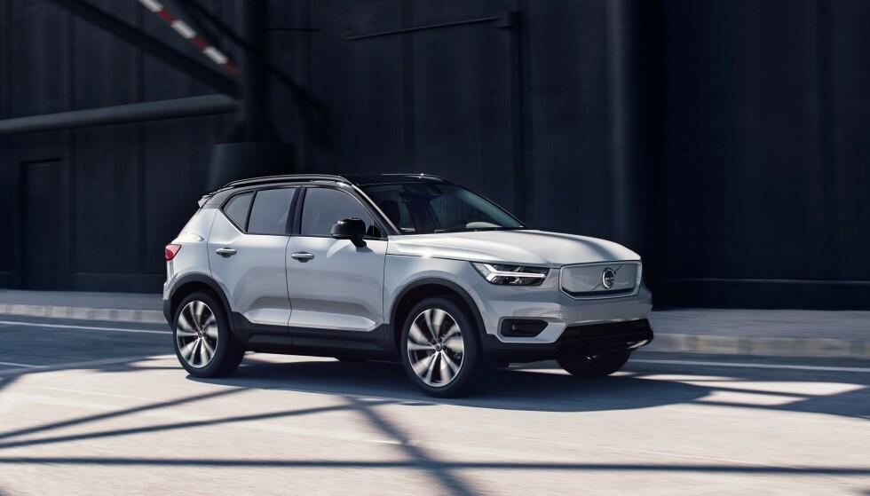 IKKE BILLIG: Volvos første elbil koster fra en halv million kroner. Foto: Volvo