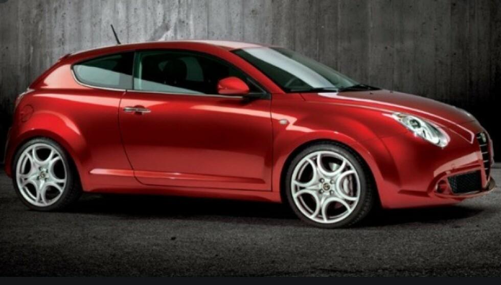 INGEN SUKSESS: Alfa Romeo Mito ble aldri noen suksess i Norge. Foto: Alfa ROmeo