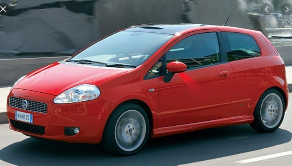 BESTSELGER: Fiat Punto var en bestselger i Europa i mange år. Foto: Fiat