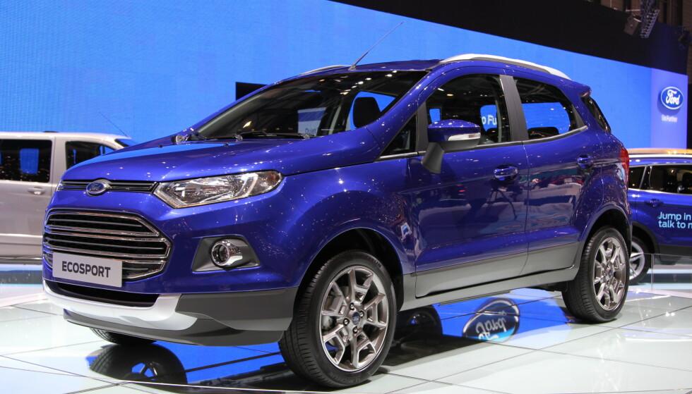 FLOPP: Ford EcoSport ble bygget for Sør-Amerika - ikke Norge. Foto: Rune Korsvoll