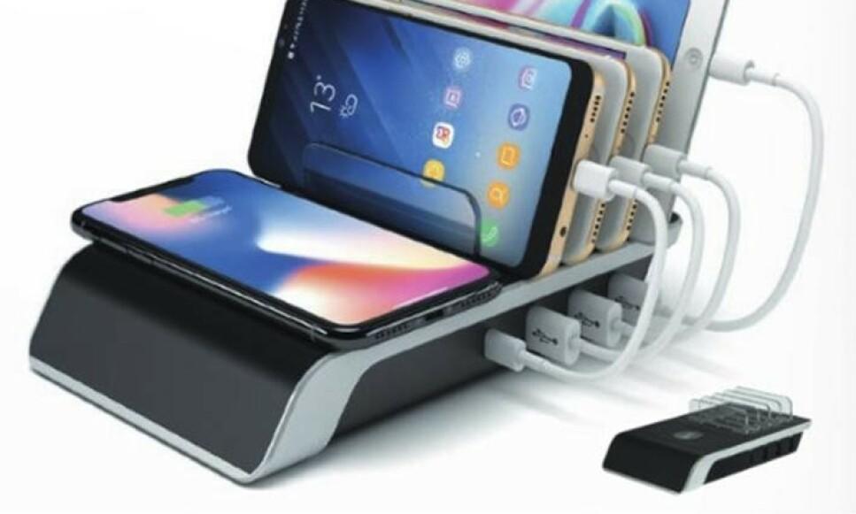 TILBAKEKALLES: Importøren har valgt å tilbakekalle denne mobilladeren etter to tilfeller med varmgang. Foto: Rob. Arnesen A/s / NTB scanpix