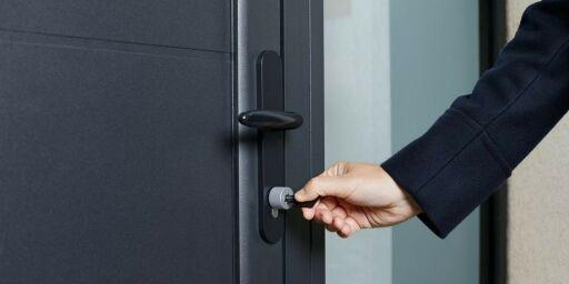 image: Smartlåsen med fysiske NFC-nøkler