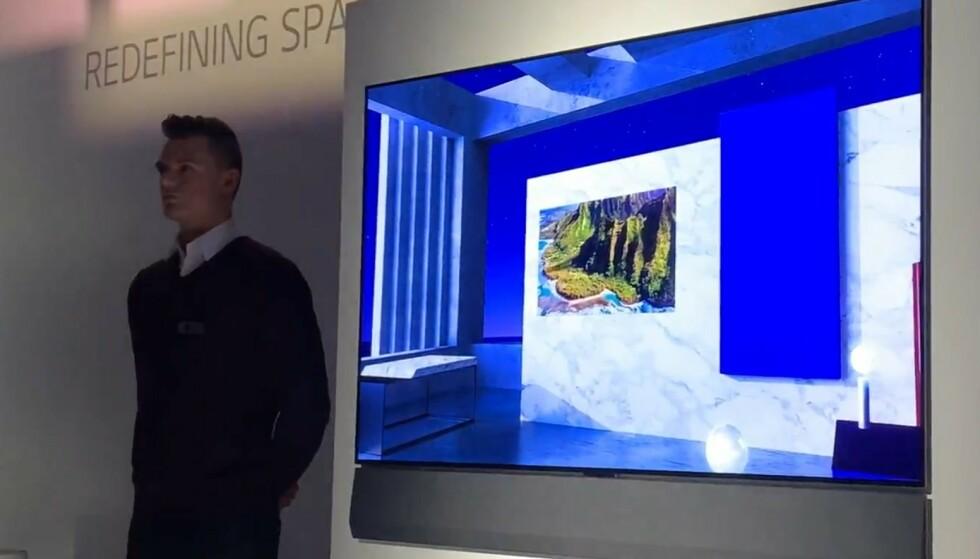 KUNST-TV: Gallery-serien består av TV-er som skal være minst like mye et kunstverk som en TV, ifølge LG. Foto: Bjørn Eirik Loftås