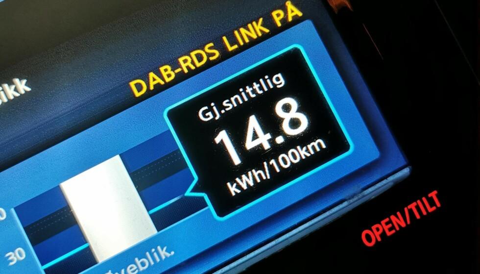 På turen frem og tilbake til jobb brukte jeg 1,48 kWh per mil. Foto: Pål Joakim Pollen
