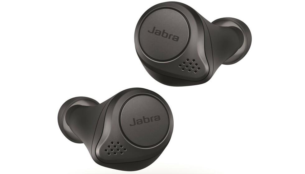 Jabra Elite Active 75t er mer motstandsdyktig mot svette og de tåler også litt regn. Foto: Jabra
