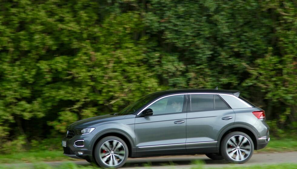 VANLIG BIL: Ifølge det finske forslaget vil VW T-Roc med fartssperre kunne være en bil som 15-åringer kan kjøre. Foto: Rune Korsvoll