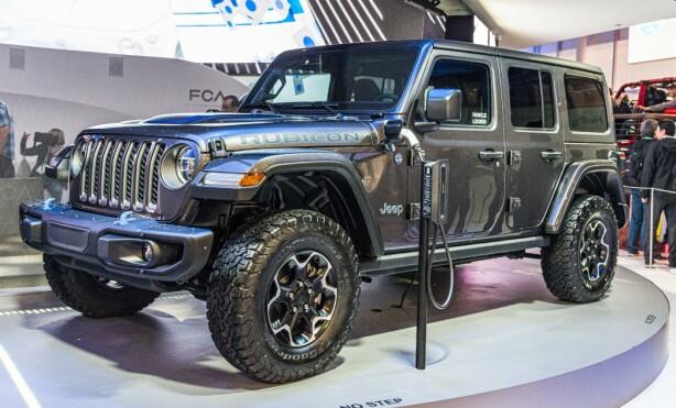 PHEV: Endelig tenker Jeep miljø. Nå kommer de med en plug-in Hybrid utgave av Wrangler. Foto: Jamieson Pothecary