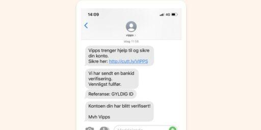 image: Vipps advarer mot falske SMS-er