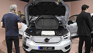 FRUNK: Den elektriske versjonen av XC40 har blant annet plass der den fossildrevne utgaven har motor. Foto: NTB/Scanpix