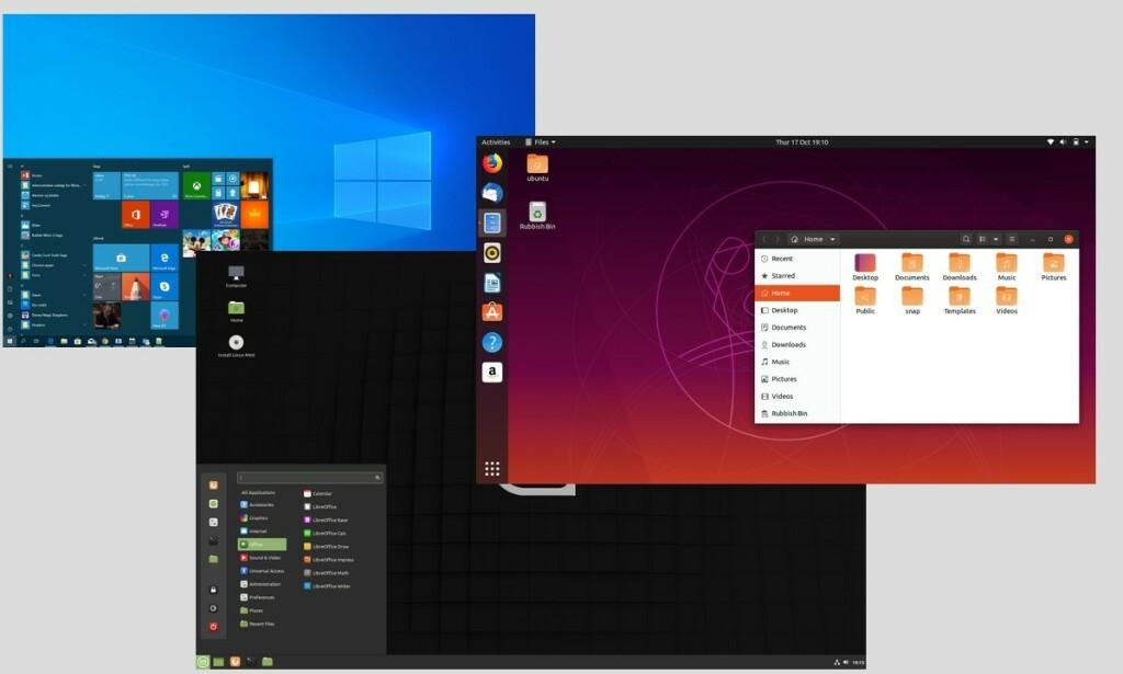 TRE GODE: Disse alternativene gir nytt liv til Window 7-maskinen din, helt uten kostnad. Illustrasjon: Dinside.no