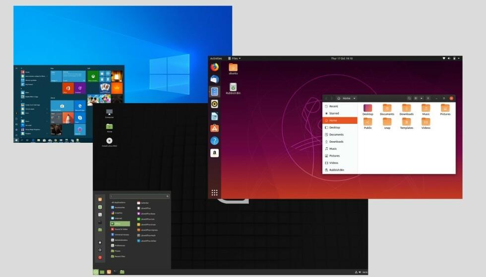 <strong>TRE GODE:</strong> Disse alternativene gir nytt liv til Window 7-maskinen din, helt uten kostnad. Illustrasjon: Dinside.no