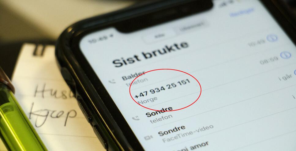 SPOOFING: Blant annet Microsoft-svindlere ringer fra det som ser ut som vanlige, norske mobilnummer. Foto: Berit B. Njarga