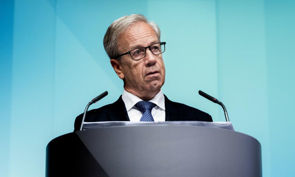 STYRINGSRENTA: Torsdag 23. januar offentliggjør sentralbanksjef Øystein Olsen den første rentebeslutningen i 2020. Foto: Berit Roald/NTB Scanpix.