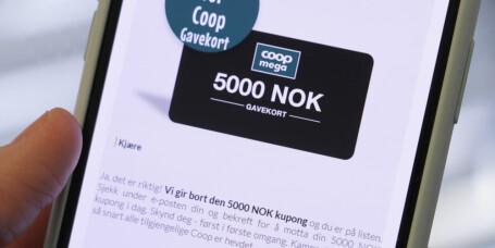 Lokker med falskt Coop-gavekort