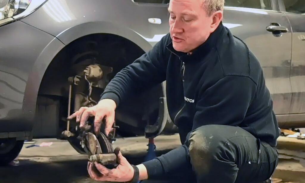 UTSLITT: Det er lettere enn du tror å skifte bremsene selv på bilen din. Foto: Rune M. Nesheim