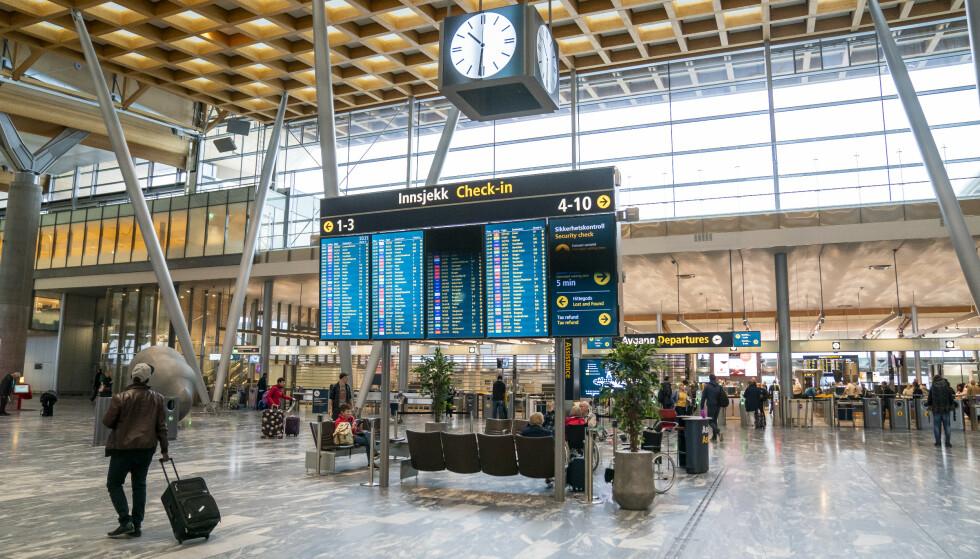Coronavirus: Foreløpig påvirker ikke virusutbruddet lufthavndriften ved Oslo lufthavn eller andre av Avinors lufthavner. Foto: NTB Scanpix