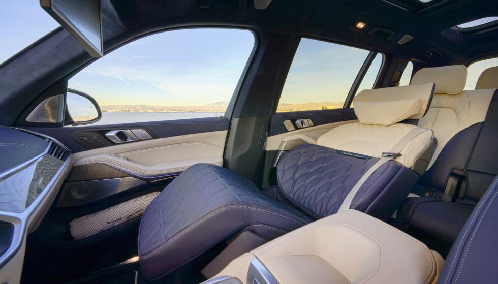 IKKE BARE X7: ZeroG-seter skal etter planen bli tilgjengelig i alle BMW-modeller helt ned til 5-serie. De skal også kunne bestilles til baksetene. Foto: BMW