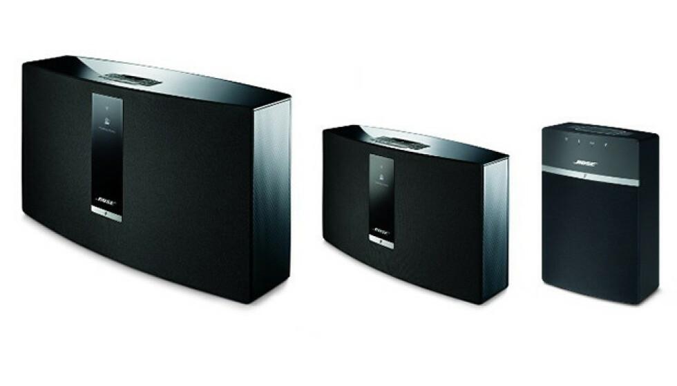 Bose SoundTouch 30, 20 og 10. Foto: Bose