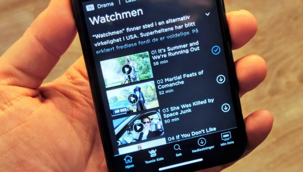 SE UTEN NETT: Nå kan du laste ned innhold fra HBO Nordic. Foto: Pål Joakim Pollen