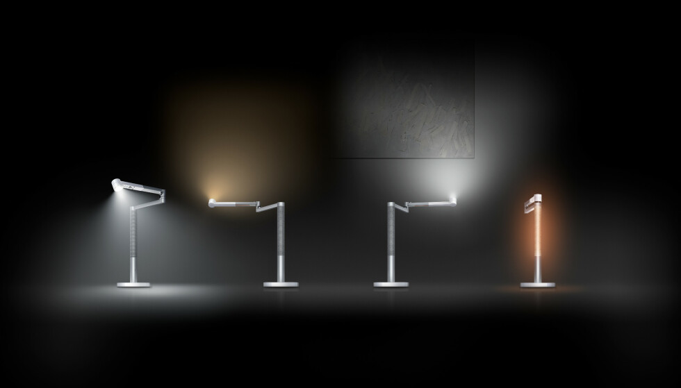 <strong>LYSER OPP:</strong> Dyson Lightcycle Morph har fire ulike lysmodier. Foto: Dyson