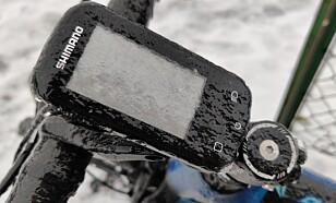 Vær også obs på at panelet kan fryse til og da blir det vanskelig å starte elsykkelen. Foto: Martin Kynningsrud Størbu