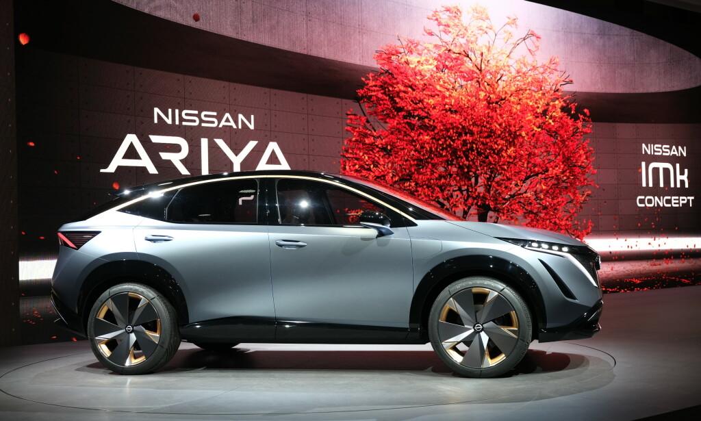 NY NISSAN-SUV: I mai viser Nissan sin nye, elektriske SUV. Til Norge kommer den neppe før ved årsskiftet. Foto: Rune Korsvoll