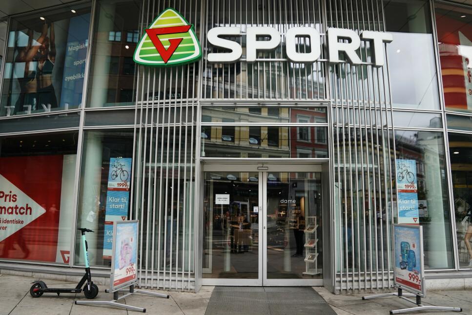 HVA MED DINE KONKURS-RETTIGHETER? Sportskjeden Gresvig, som står bak G-sport og Intersport, er konkurs. Hva skjer med gavekort eller tilgodelapp hos butikkene? Og hva med dine forbrukerrettigheter ved eventuelle reklamasjoner? Foto: NTB scanpix