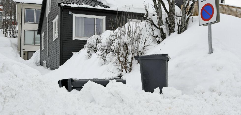 image: Farevarsel: Mye snø over store deler av landet