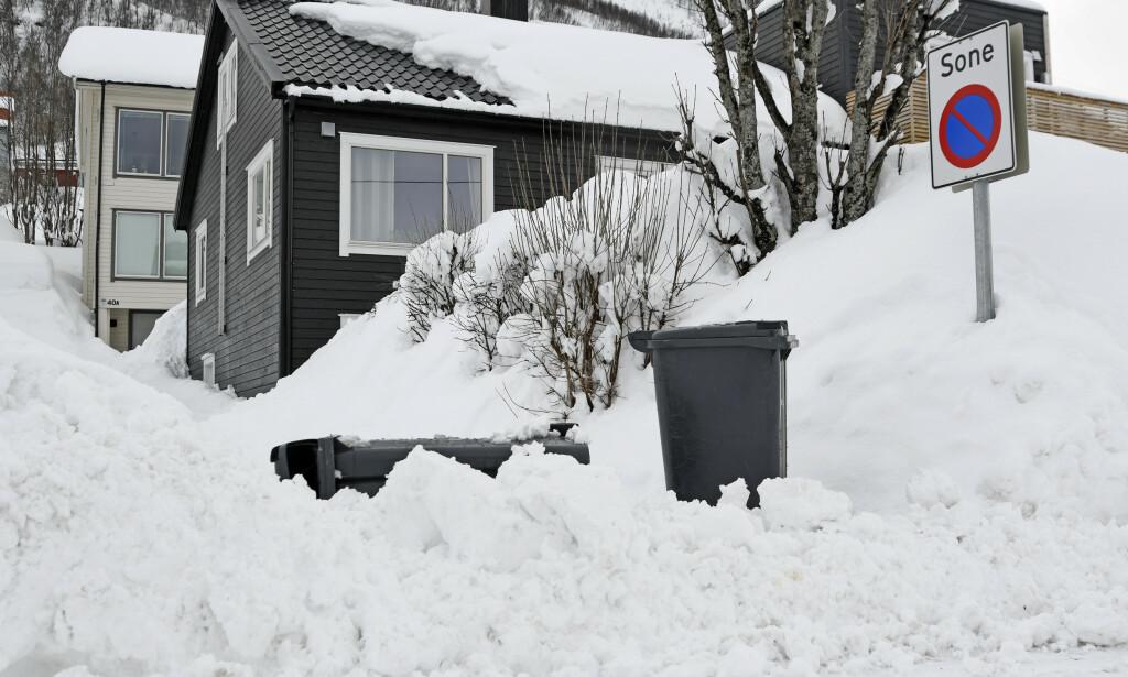 VARSLER STORE SNØMENGDER: Fra Trøndelag og nordover vil det komme mye snø de nærmeste dagene. Her fra Tromsø i fjor vinter. Foto: Rune Stoltz Bertinussen/NTB Scanpix
