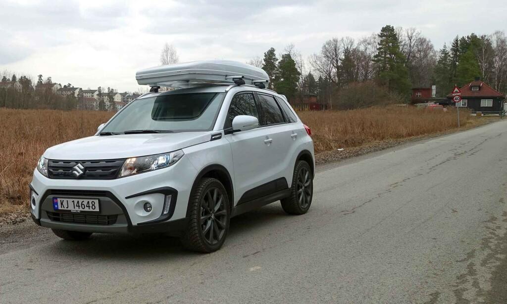 MEST SOLGT TIL NÅ: Vitara har vært Suzukis mest solgte bil i Norge de siste årene. I fjor ble det med 813 nyregistrerte biler. Foto: Knut Moberg