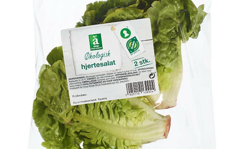 SALMONELLAMISTANKE: Coop har klart å spore opp syv av de åtte som kjøpte Änglamark hjertesalat før salget ble stanset. Foto: Coop
