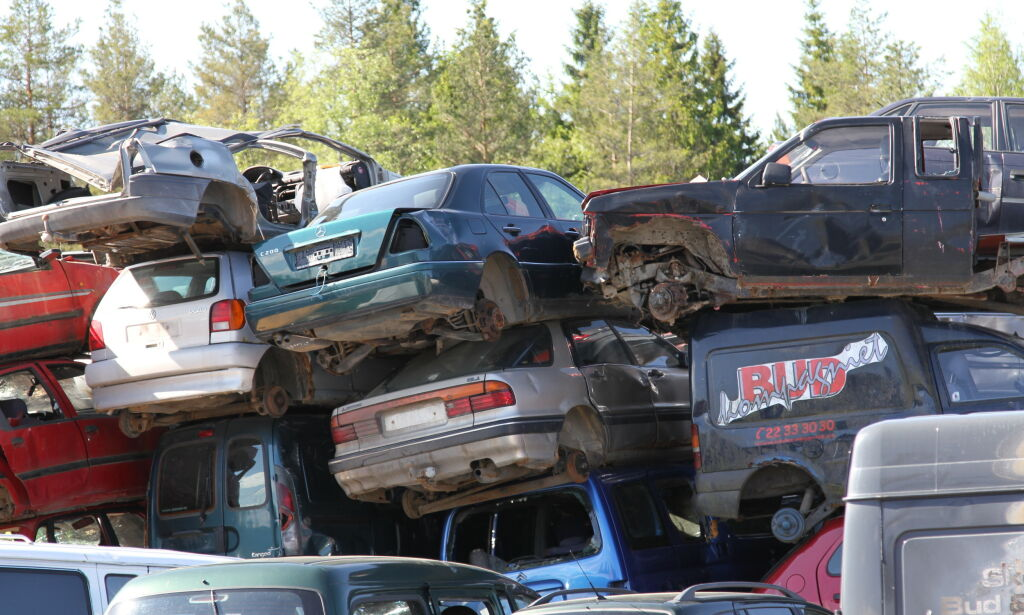 image: Disse bilene går først i vrakpressa