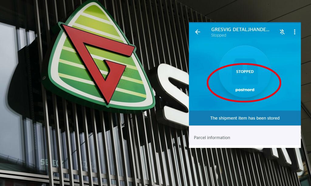 PAKKER FRA G-SPORT BLE STOPPET: Etter konkursen i G-sport og Intersport ble alle leveranser av pakker fra butikkene stoppet av PostNord. Nå er de kommet til en enighet med boet etter Gresvig-konsernet, og leveransene gjenopptas. Foto/montasje: NTB scanpix/privat skjermdump