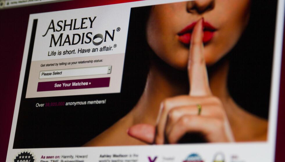 HACKET: Dating-nettstedet Ashley Madison ble hacket i 2015. Nå blir brukerne truet til å betale for å unngå at intime detaljer blir delt. Foto: Shutterstock / NTB Scanpix