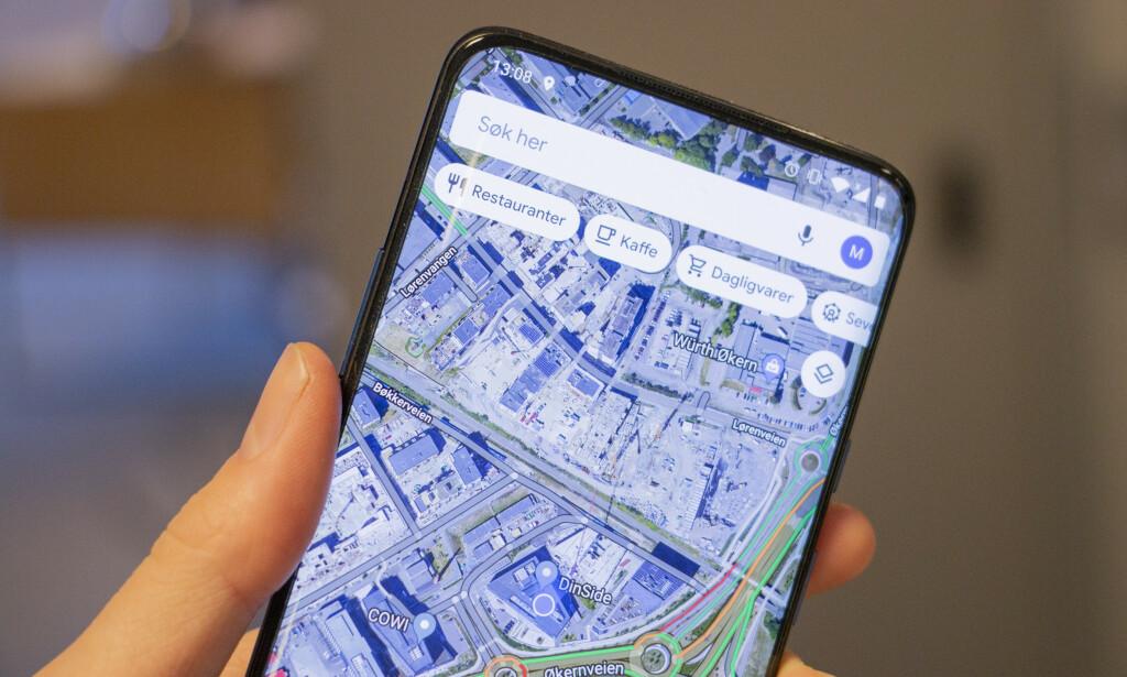 GOOGLE MAPS: Googles kart-app runder 15 år, og det feires med flere nyheter. Foto: Martin Kynningsrud Størbu