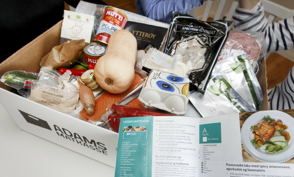 STØRST: Adams Matkasse har levert matkasser siden 2013, og har sammen med Godt Levert, det største utvalget av kasser. Foto: NTB scanpix/Gorm Kallestad